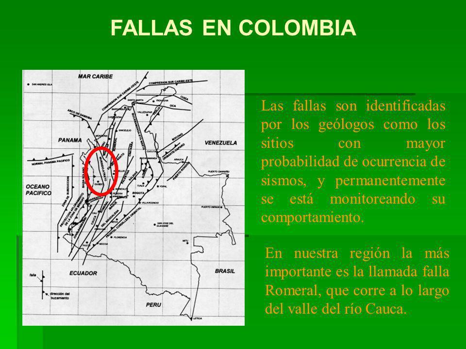 Las fallas son identificadas por los geólogos como los sitios con mayor probabilidad de ocurrencia de sismos, y permanentemente se está monitoreando s