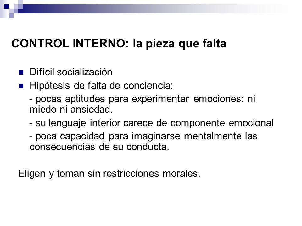 El problema de los psicópatas en la prisión 18 % - 21% psicópatas del total población reclusa española (Molto, 2000, Torrubia et alt.