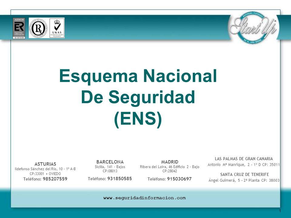 2 CREACIÓN DEL ESQUEMA NACIONAL DE SEGURIDAD (ENS) Su creación se contempla en la LEY 11/2007, de 22 de junio, de acceso electrónico de los ciudadanos a los Servicios Públicos y se regula a través de Real Decreto del Gobierno de España 3/2010, de 8 de enero.