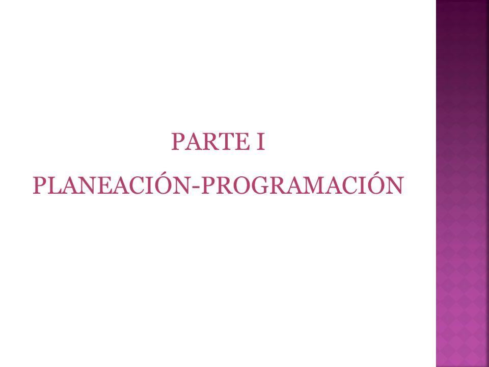 PARTE I PLANEACIÓN-PROGRAMACIÓN