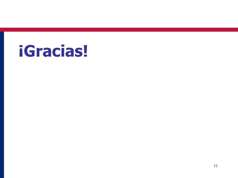 11 ¡Gracias!