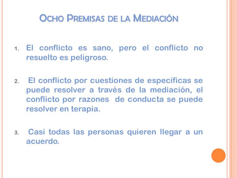 O CHO P REMISAS DE LA M EDIACIÓN 1.