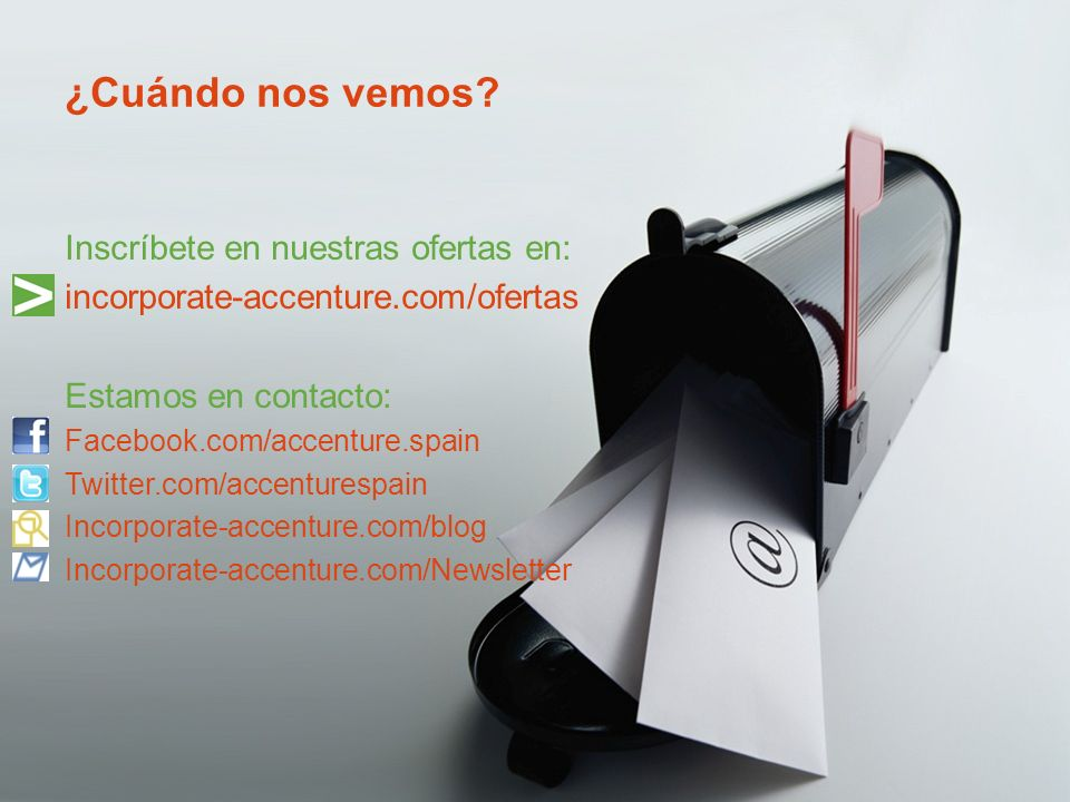 Copyright © 2010 Accenture All Rights Reserved.¿Cuándo nos vemos.