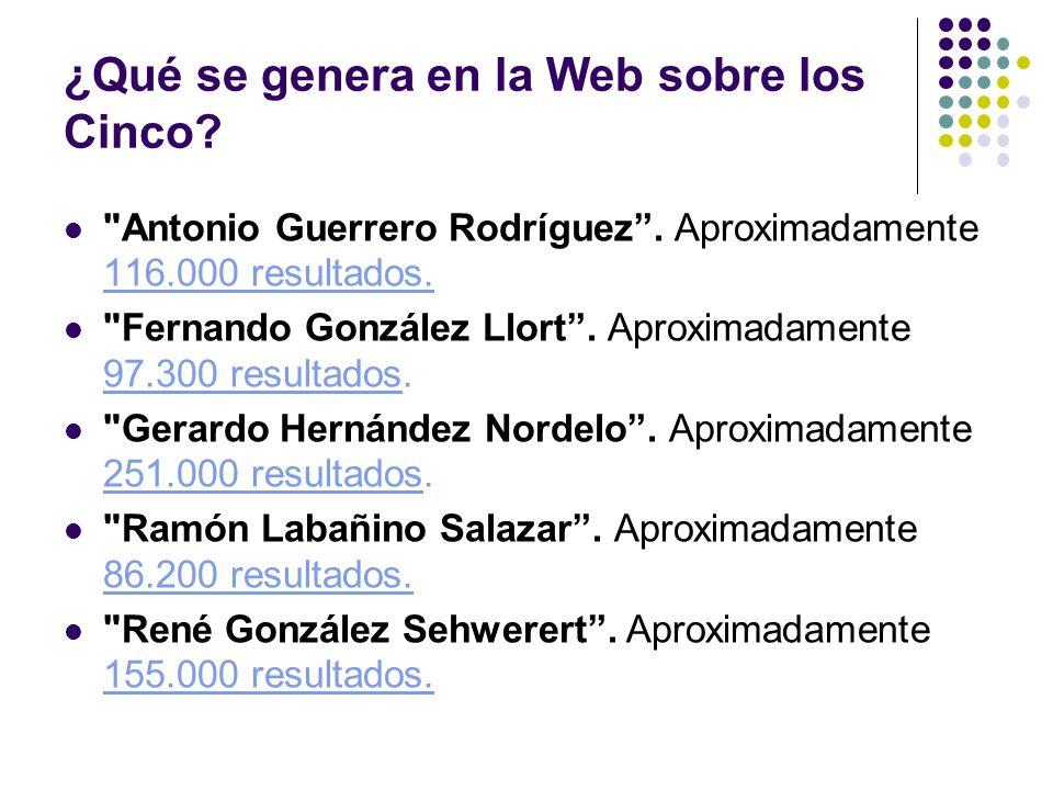 ¿Qué se genera en la Web sobre los Cinco. Antonio Guerrero Rodríguez.