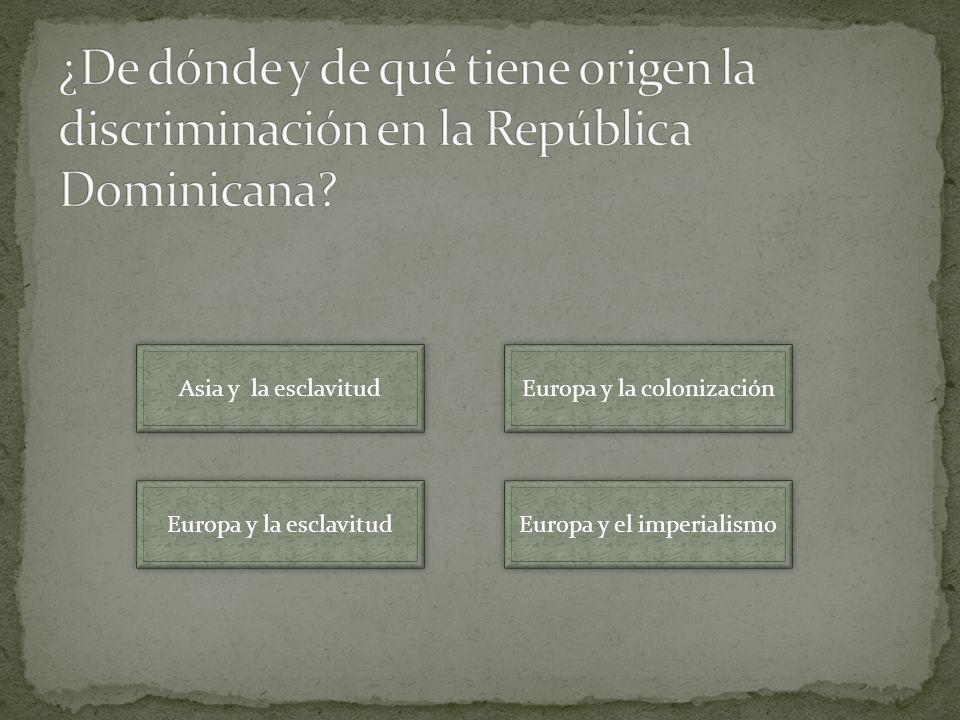 Asia y la esclavitud Europa y la esclavitud Europa y el imperialismo Europa y la colonización