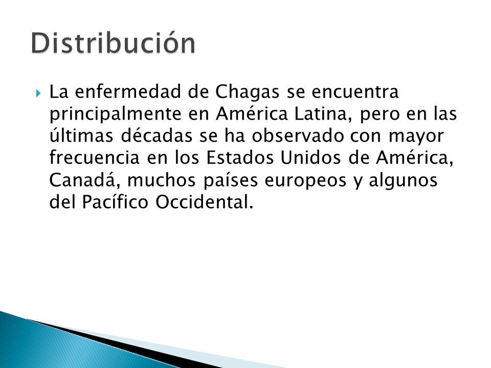 La enfermedad de Chagas se encuentra principalmente en América Latina, pero en las últimas décadas se ha observado con mayor frecuencia en los Estados