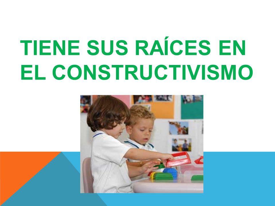TIENE SUS RAÍCES EN EL CONSTRUCTIVISMO