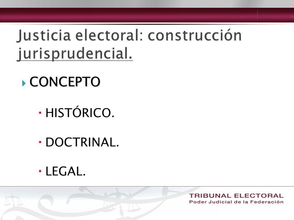CONCEPTO CONCEPTO HISTÓRICO. DOCTRINAL. LEGAL.