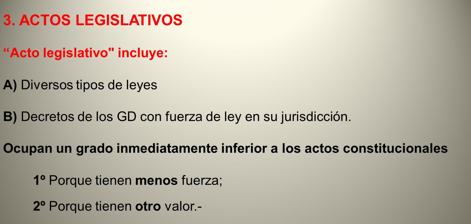 3. ACTOS LEGISLATIVOS Acto legislativo