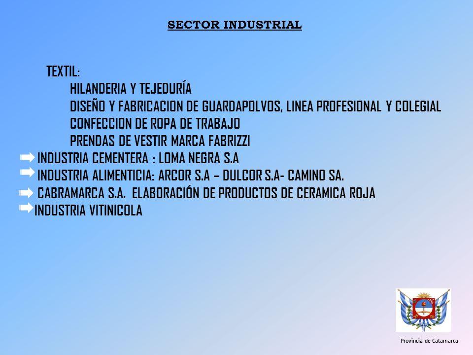TEXTIL: HILANDERIA Y TEJEDURÍA DISEÑO Y FABRICACION DE GUARDAPOLVOS, LINEA PROFESIONAL Y COLEGIAL CONFECCION DE ROPA DE TRABAJO PRENDAS DE VESTIR MARC