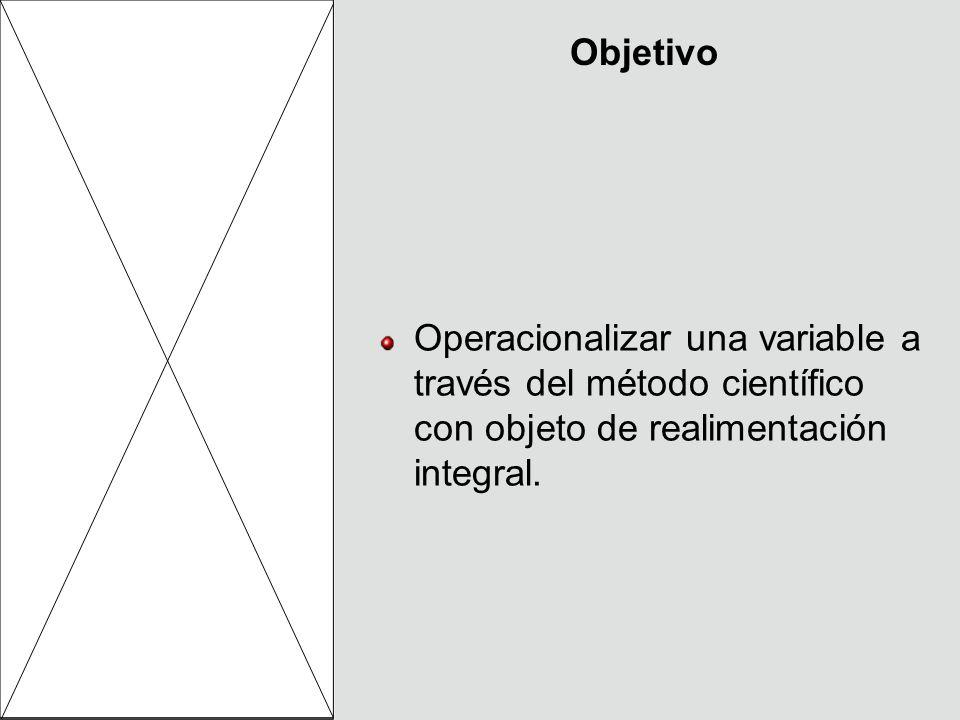 Instrumentación de la medición Creación de los ítems con base en las dimensiones.