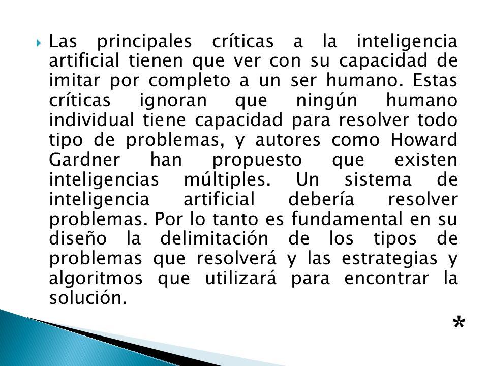 Las principales críticas a la inteligencia artificial tienen que ver con su capacidad de imitar por completo a un ser humano. Estas críticas ignoran q