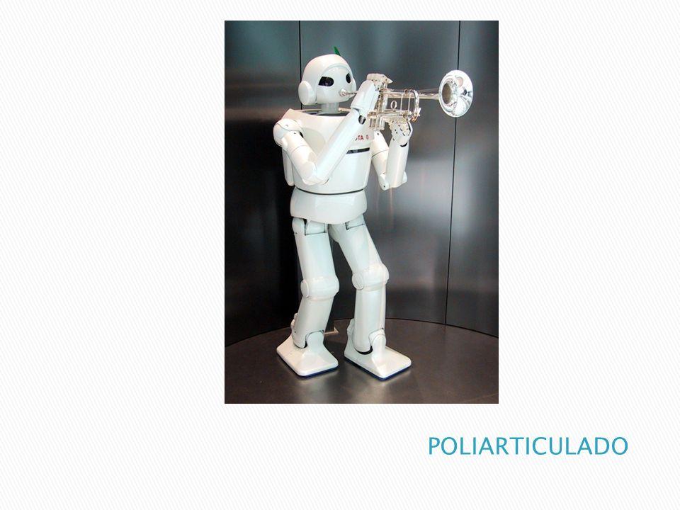 MOVILES Son Robots con gran capacidad de desplazamiento, basada en carros o plataformas y dotada de un sistema locomotor de tipo rodante.