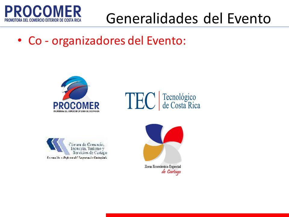 Generalidades del Evento Co - organizadores del Evento: