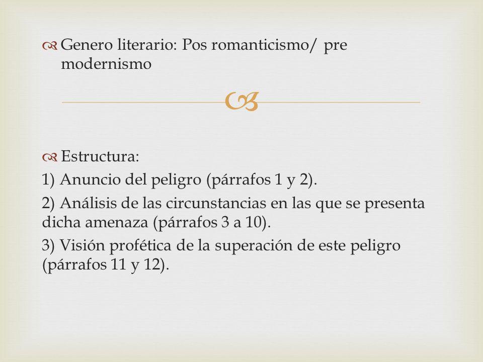 Tema principal: 1.Una invitacion a la union y la soberanía entre los pueblos hispanoameicanos.