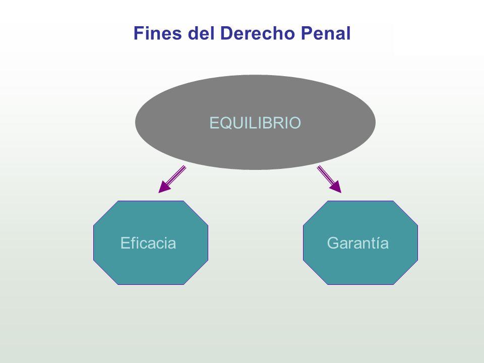 Fines del Derecho Penal EQUILIBRIO EficaciaGarantía