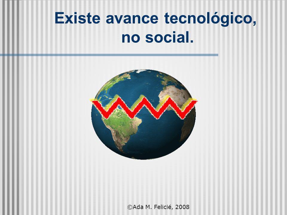 Existe avance tecnológico, no social. ©Ada M. Felicié, 2008