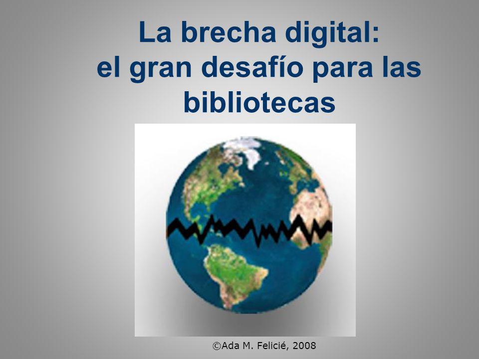 La brecha digital: el gran desafío para las bibliotecas ©Ada M. Felicié, 2008