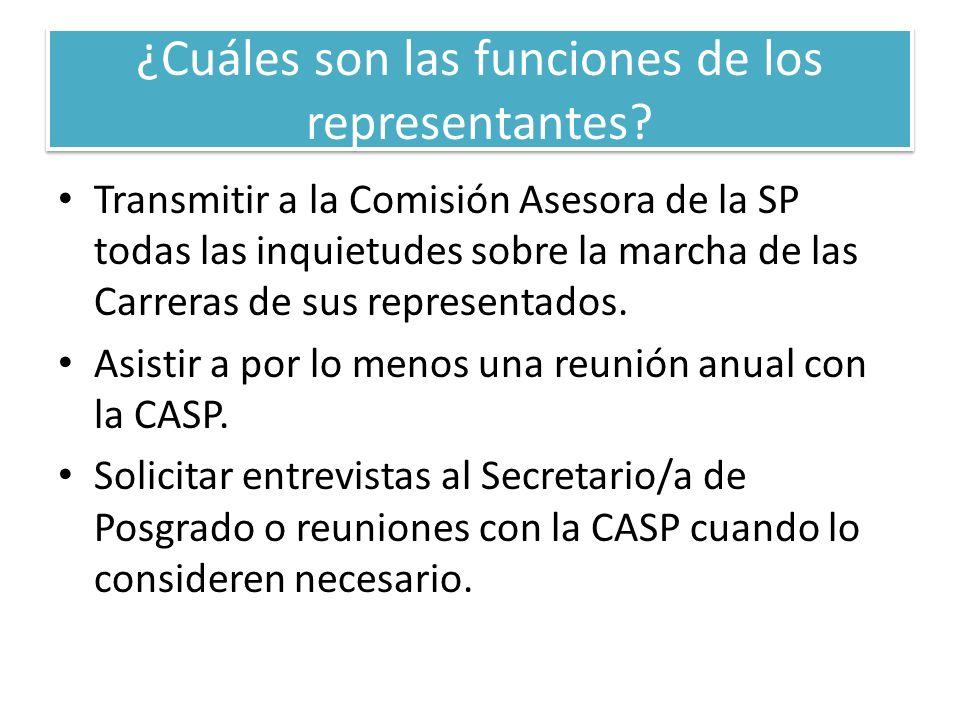 ¿Cuáles son las funciones de los representantes.