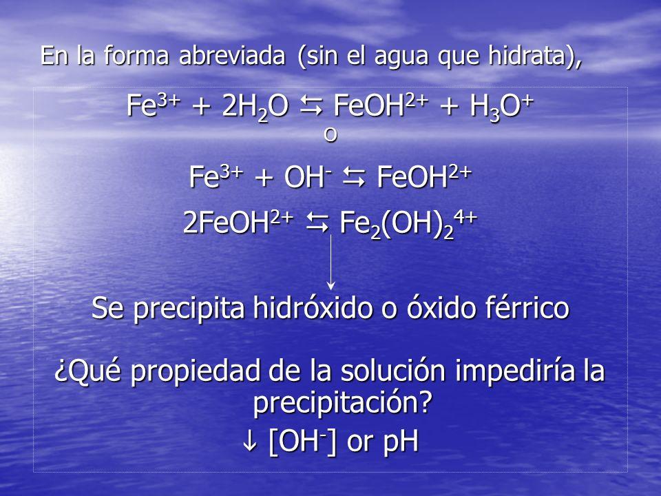 Constante de Equilibrio H n A nH + + A n- De la Termodinámica, El producto de solubilidad es un caso particular de la constante de equilibrio, donde el producto es un sólido (a s =1)