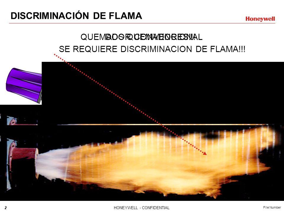 2HONEYWELL - CONFIDENTIAL File Number DISCRIMINACIÓN DE FLAMA QUEMADOR CONVENCIONALDOS QUEMADORES!!! SE REQUIERE DISCRIMINACION DE FLAMA!!!