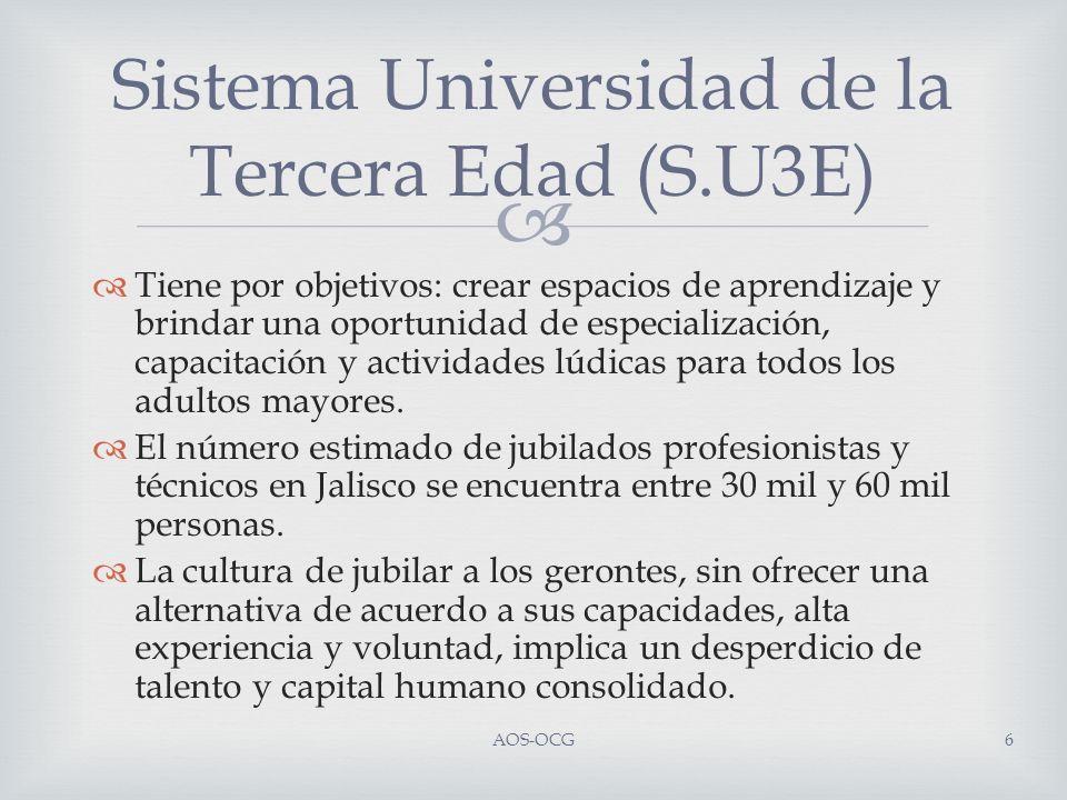 Sistema Universidad de la Tercera Edad (S.U3E) AOS-OCG7