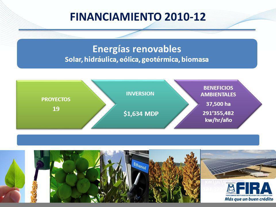 Energías renovables Solar, hidráulica, eólica, geotérmica, biomasa