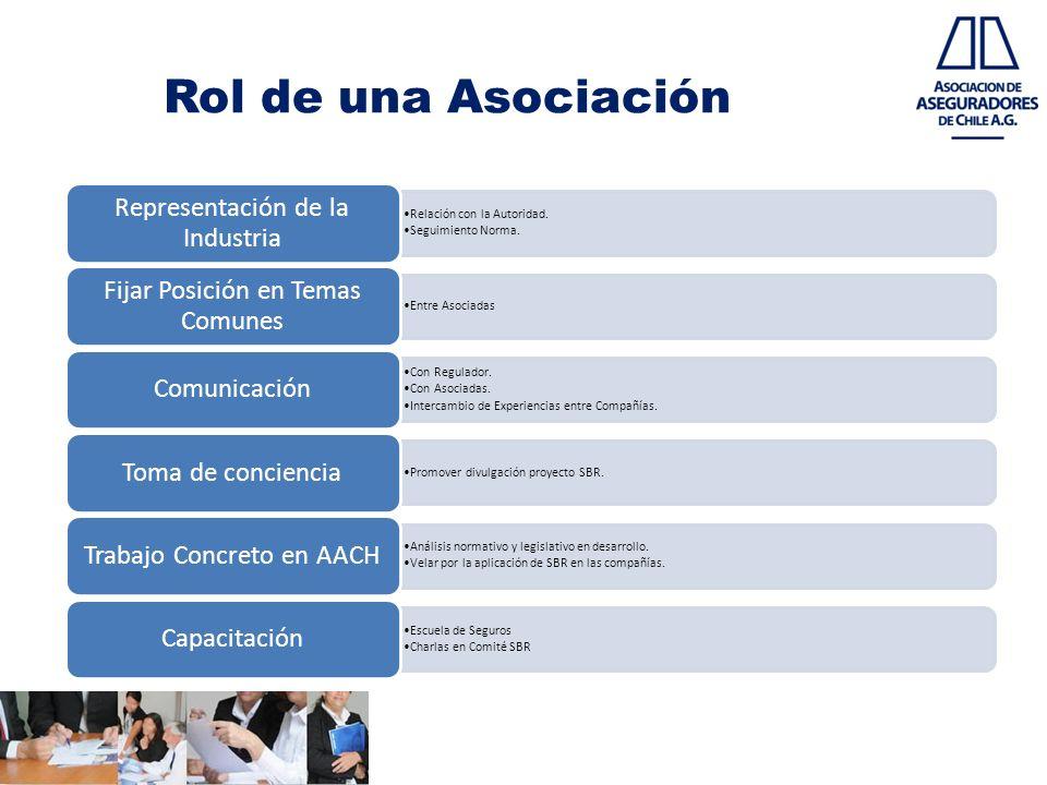 Rol de una Asociación Relación con la Autoridad. Seguimiento Norma. Representación de la Industria Entre Asociadas Fijar Posición en Temas Comunes Con