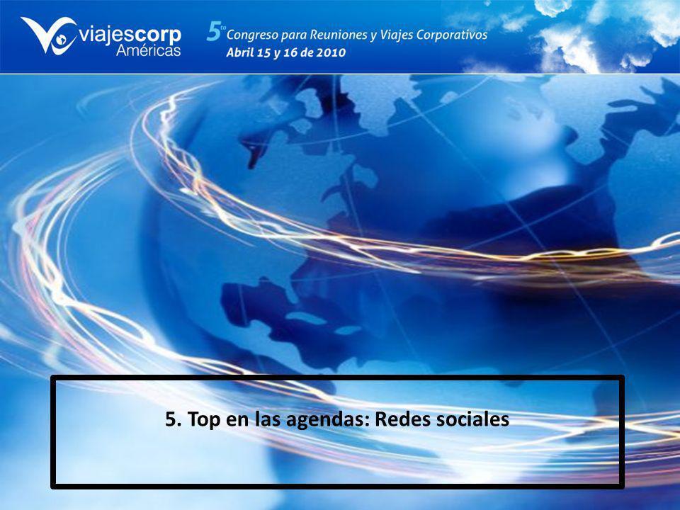 5. Top en las agendas: Redes sociales