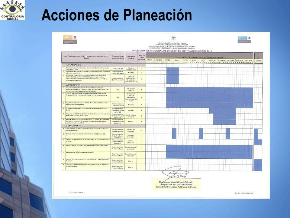 Acciones de Planeación