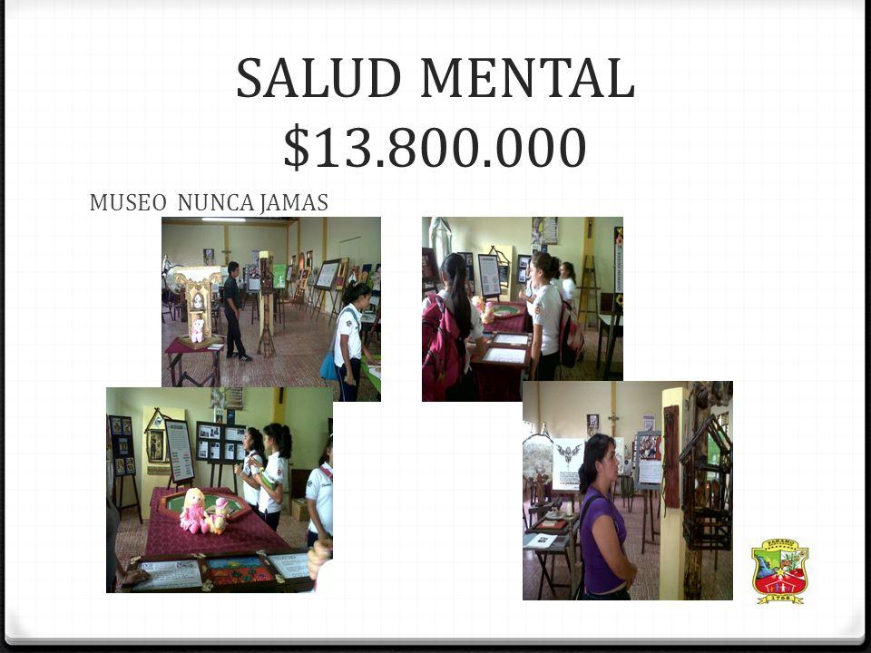 INVERSION POR PROYECTO Salud Infantil $5.500.000Nutrición $4.500.000 1.