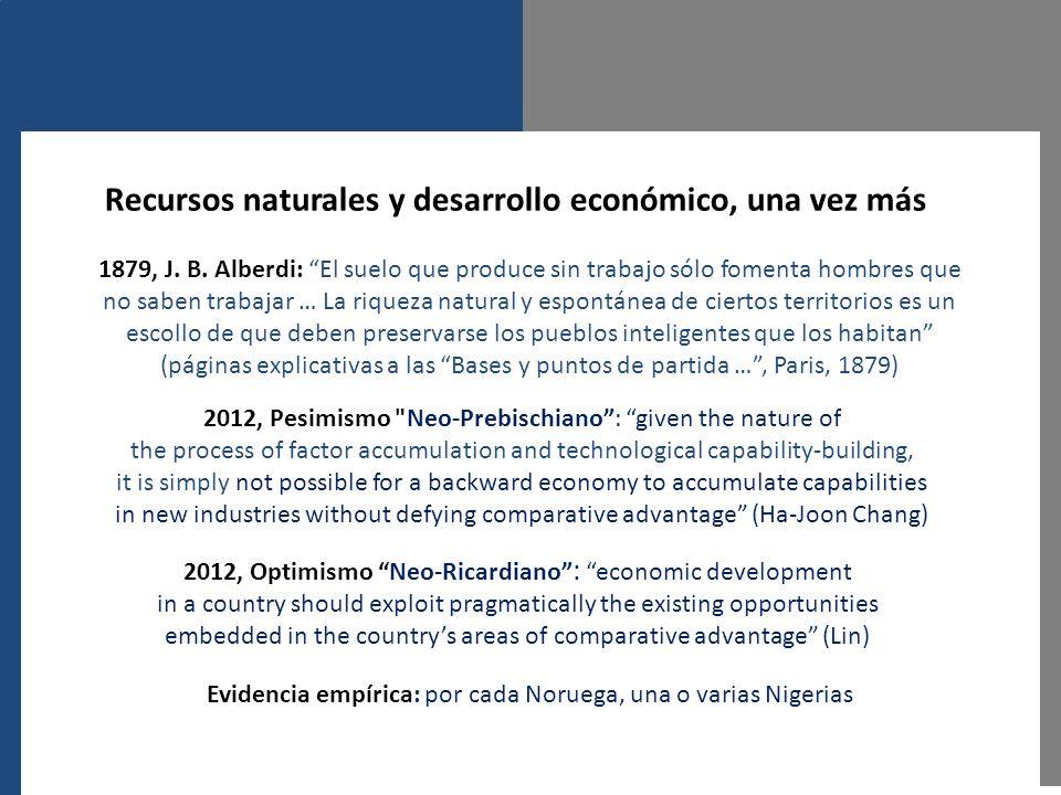 Recursos naturales y desarrollo económico, una vez más 2012, Optimismo Neo-Ricardiano :economic development in a country should exploit pragmatically