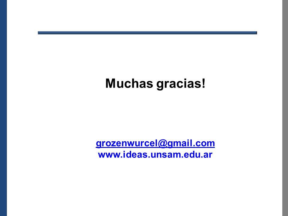 Muchas gracias! grozenwurcel@gmail.com www.ideas.unsam.edu.ar