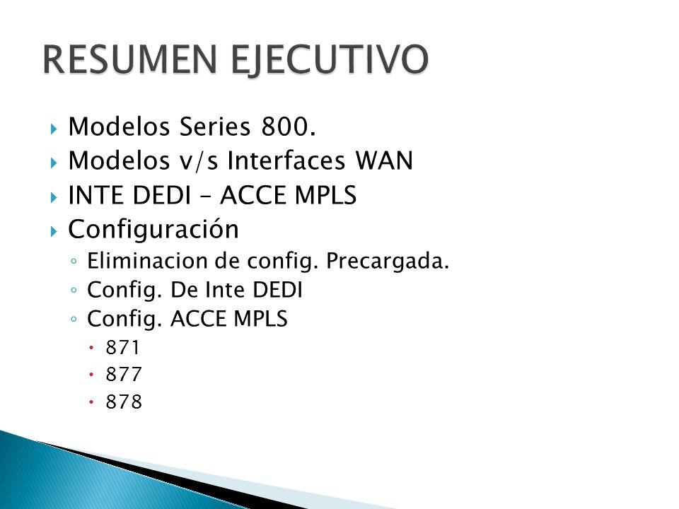 IP LAN (inte dedi): En los modelos de la serie 800, la interfaz Vlan1, es donde se deben ingresar la dirección ip.