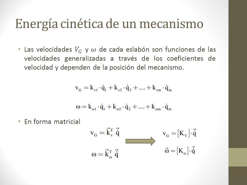 Energía potencial del mecanismo Fuerza generalizada