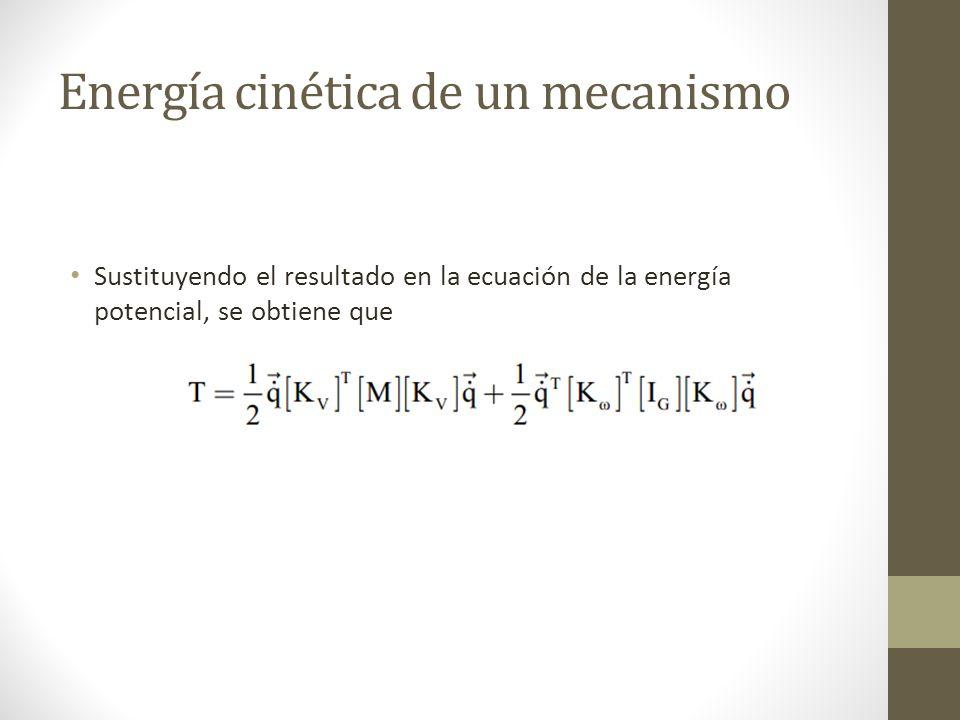 Sustituyendo todos los términos en la ecuación de Eksergian, se llega a la ecuación diferencial