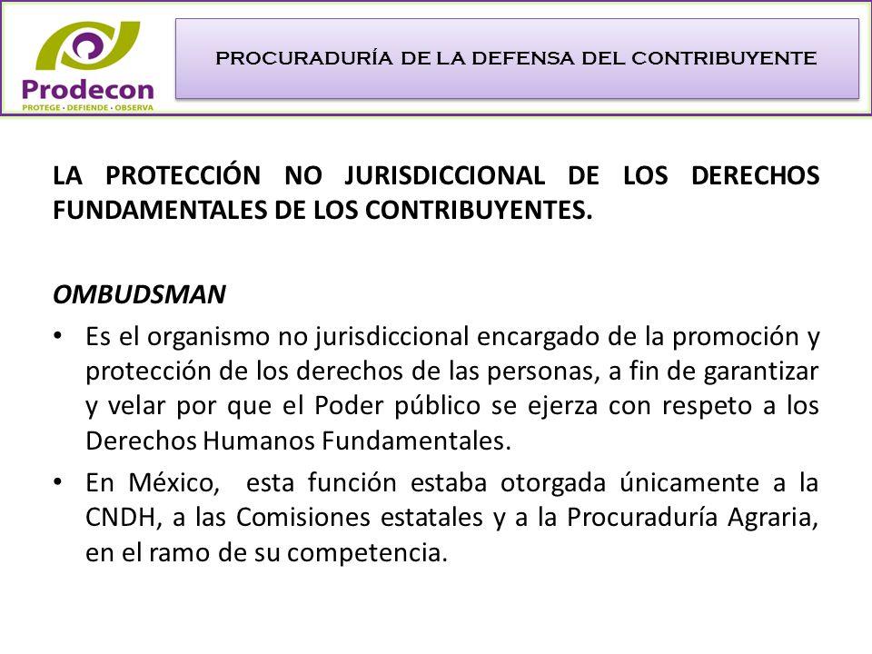 Creación del Ombudsman en materia Fiscal.