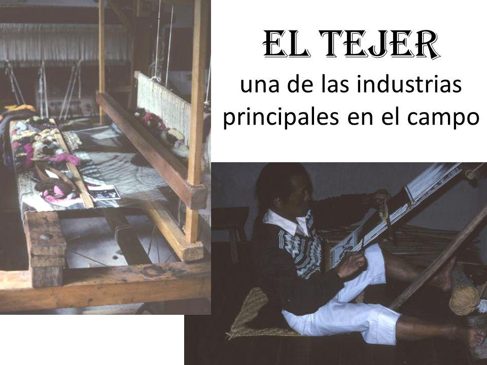 El Tejer una de las industrias principales en el campo