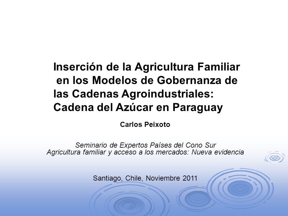 Inserción de la Agricultura Familiar en los Modelos de Gobernanza de las Cadenas Agroindustriales: Cadena del Azúcar en Paraguay Carlos Peixoto Semina