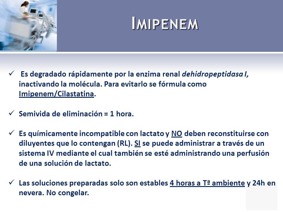 20 pacientes con neumonía nosocomial.2 ramas de tratamiento: 2g inf.