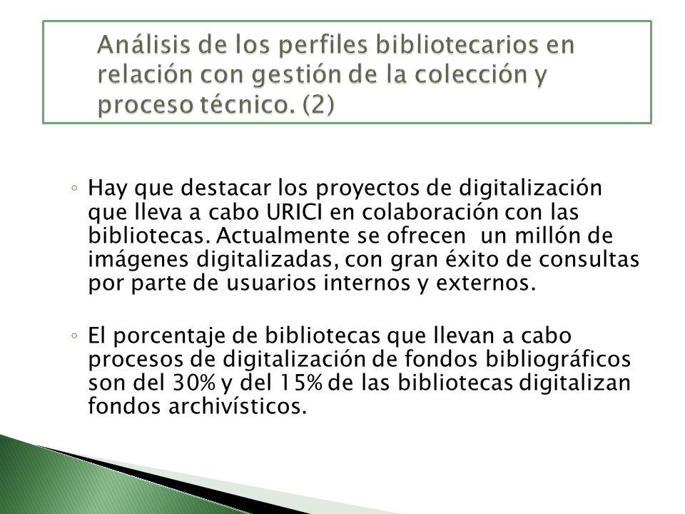 Hay que destacar los proyectos de digitalización que lleva a cabo URICI en colaboración con las bibliotecas. Actualmente se ofrecen un millón de imáge