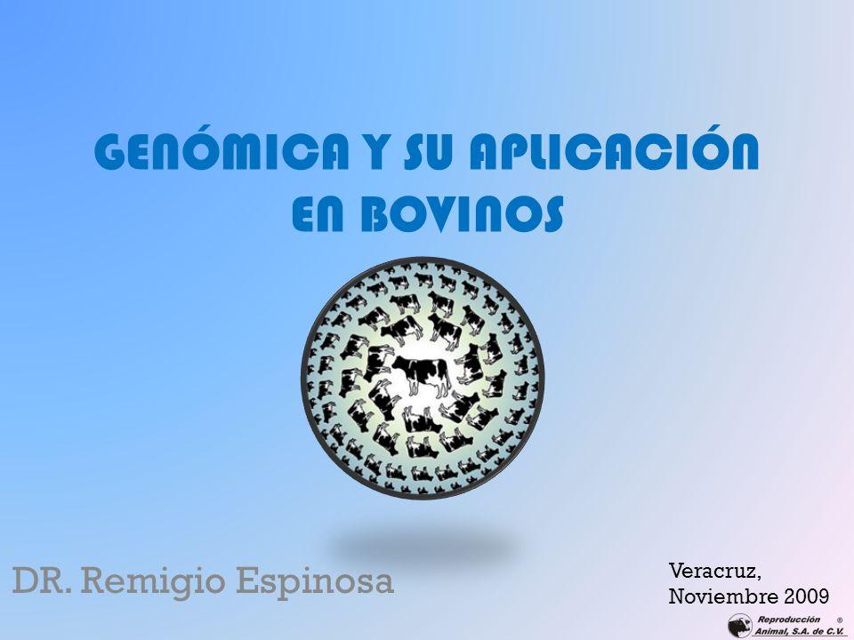 GENÓMICA Y SU APLICACIÓN EN BOVINOS DR. Remigio Espinosa Veracruz, Noviembre 2009