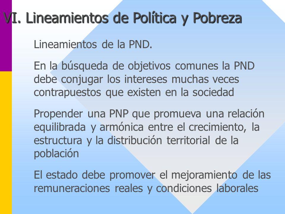 Lineamientos de la PND. En la búsqueda de objetivos comunes la PND debe conjugar los intereses muchas veces contrapuestos que existen en la sociedad P