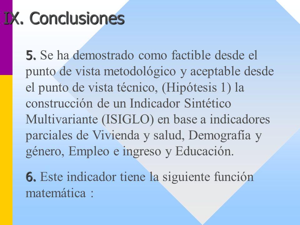 5. 5. Se ha demostrado como factible desde el punto de vista metodológico y aceptable desde el punto de vista técnico, (Hipótesis 1) la construcción d