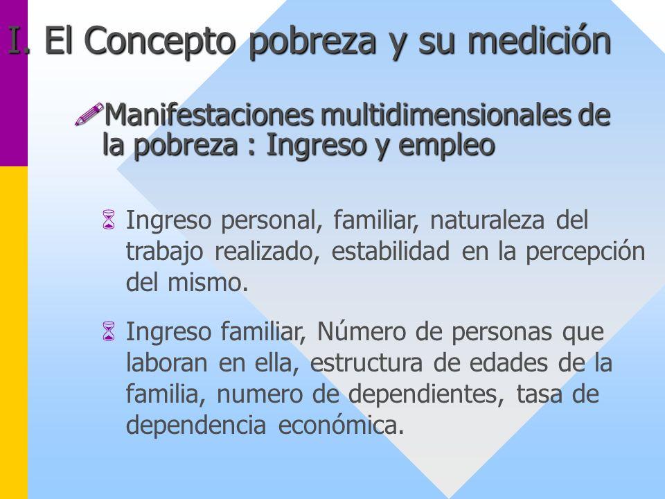 6Ingreso personal, familiar, naturaleza del trabajo realizado, estabilidad en la percepción del mismo. 6Ingreso familiar, Número de personas que labor