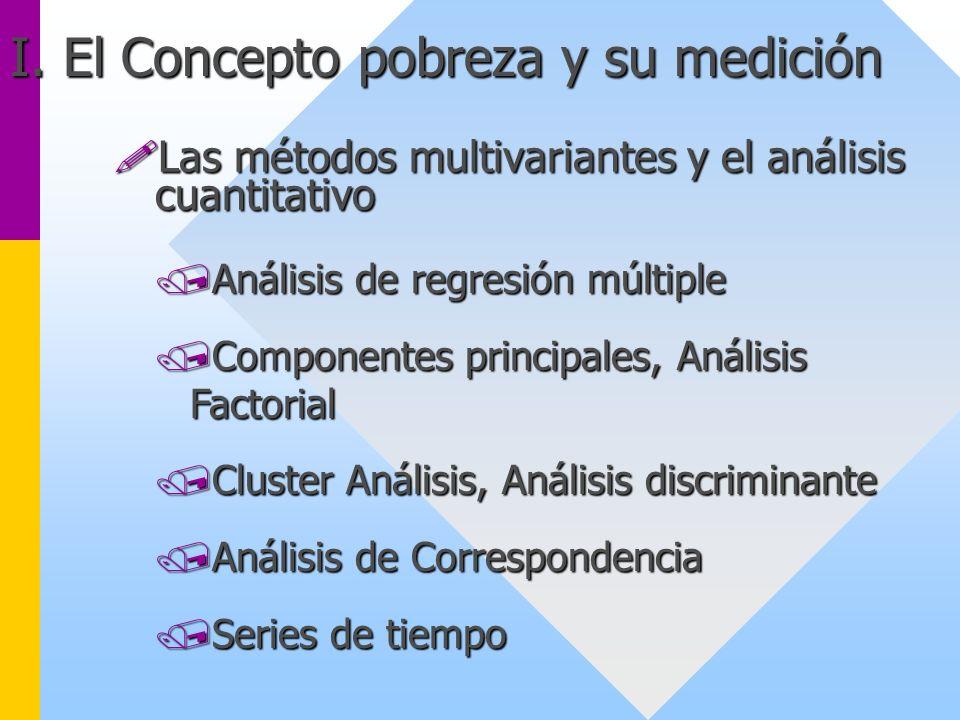 !Las métodos multivariantes y el análisis cuantitativo /Análisis de regresión múltiple /Componentes principales, Análisis Factorial /Cluster Análisis,