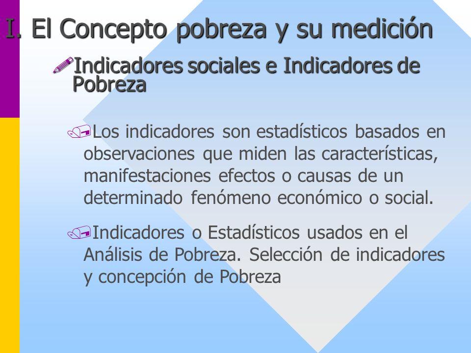 !Indicadores sociales e Indicadores de Pobreza /Los indicadores son estadísticos basados en observaciones que miden las características, manifestacion
