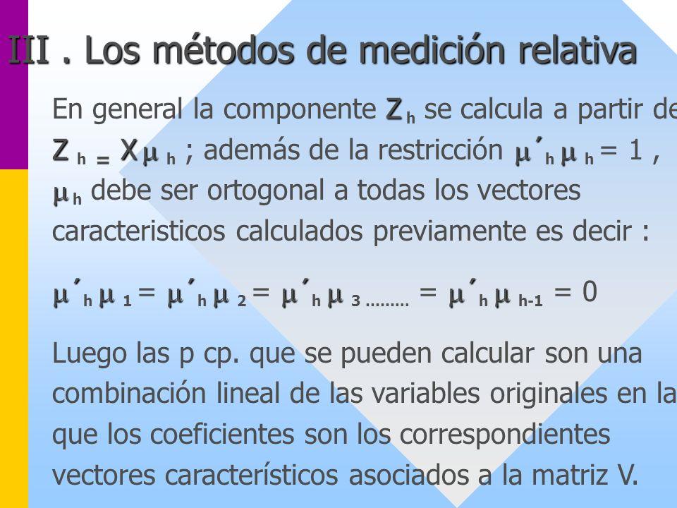 Z Z X ´ En general la componente Z h se calcula a partir de Z h = X h ; además de la restricción ´ h h = 1, h debe ser ortogonal a todas los vectores