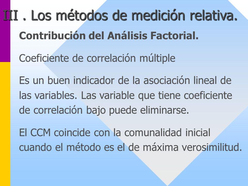 Contribución del Análisis Factorial. Coeficiente de correlación múltiple Es un buen indicador de la asociación lineal de las variables. Las variable q
