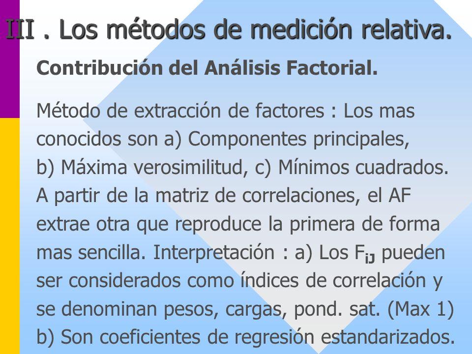 Contribución del Análisis Factorial. Método de extracción de factores : Los mas conocidos son a) Componentes principales, b) Máxima verosimilitud, c)